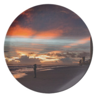 Stormy Sunset Party Plate