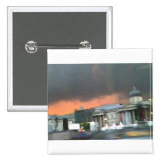 Stormy Sunset - Trafalgar Square Pinback Buttons