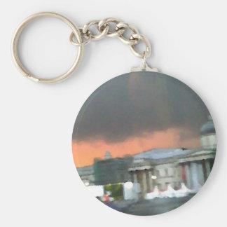 Stormy Sunset - Trafalgar Square Basic Round Button Key Ring