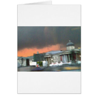 Stormy Sunset - Trafalgar Square Greeting Card