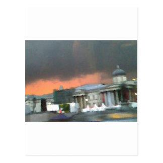Stormy Sunset - Trafalgar Square Postcard