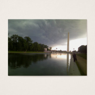 Stormy Washington DC day Business Card