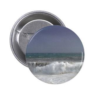 Stormy weather 6 cm round badge