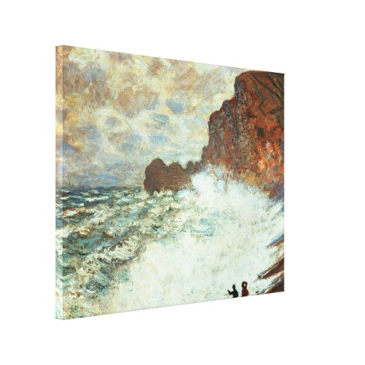 Stormy Weather a Etretat, Rough Sea - Claude Monet Gallery Wrapped Canvas