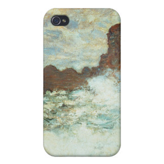 Stormy Weather a Etretat, Rough Sea - Claude Monet Covers For iPhone 4