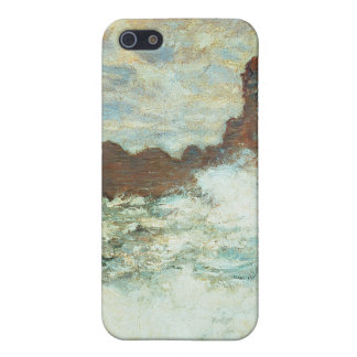 Stormy Weather a Etretat, Rough Sea - Claude Monet iPhone 5 Cases