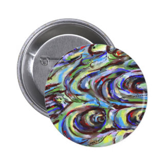 Stormy Weather Abstraction 6 Cm Round Badge