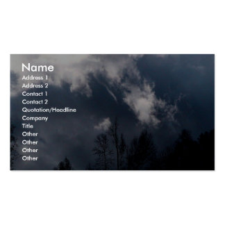 Stormy Weather - Dark Clouds Business Card