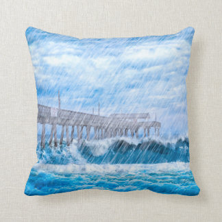 Stormy Weather On Tybee Island Pillows