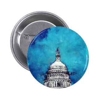 Stormy Weather Over The Capitol 6 Cm Round Badge