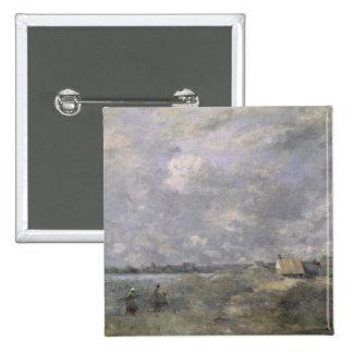 Stormy Weather, Pas de Calais, c.1870 15 Cm Square Badge