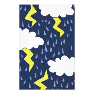Stormy weather stationery