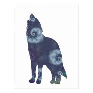 Stormy Wolf Postcard