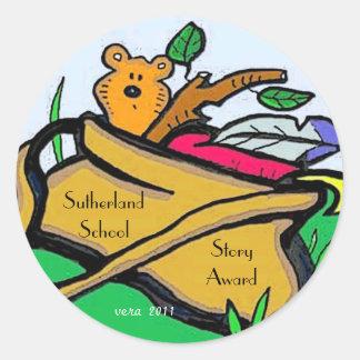 Story Award by Vera Trembach Round Stickers