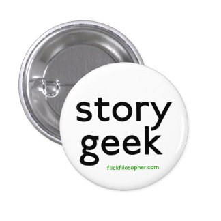 story geek 3 cm round badge