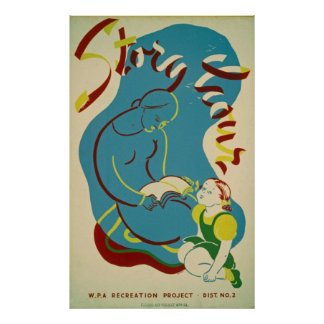 Story Hour Vintage Poster
