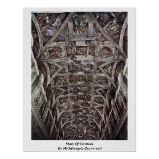 Story Of Creation In Sistine Chapel By Poster