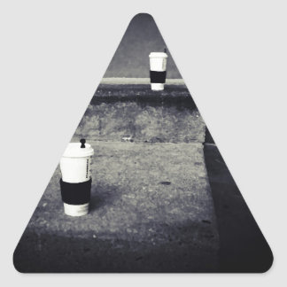 Story Of Cups Triangle Sticker