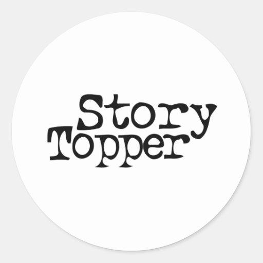 Story Topper Round Sticker
