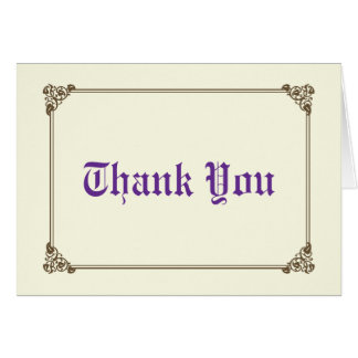 Storybook Fairytale Wedding Thank You Card