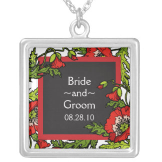 Storybook Poppies Wedding Necklace