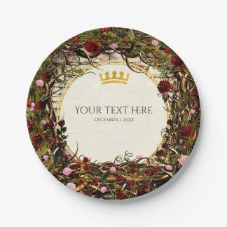 Storybook Princess Vintage Briar Rose Party Paper Plate