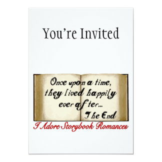 Storybook Romances Happily Ever After 13 Cm X 18 Cm Invitation Card