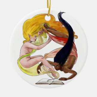 Storybook Women Christmas Tree Ornament