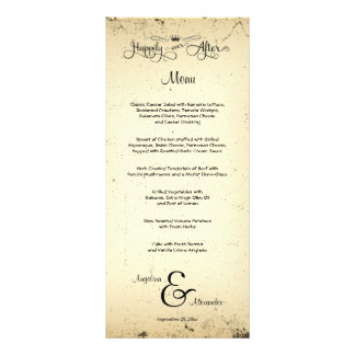 Storyline Customisable Wedding Menu Card Rack Card Template