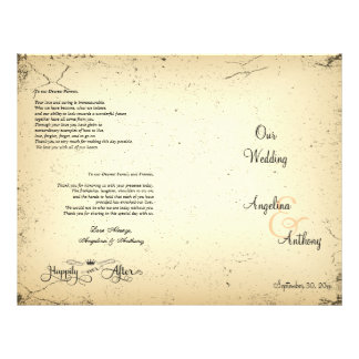 Storyline Formal Wedding Program 21.5 Cm X 28 Cm Flyer