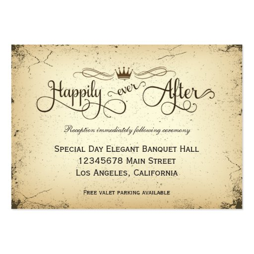 Storyline Formal Wedding Reception Card Business Card Templates