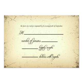 Storyline Wedding RSVP Response Card 9 Cm X 13 Cm Invitation Card