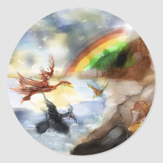 Storyteller - Clipped Wings Classic Round Sticker