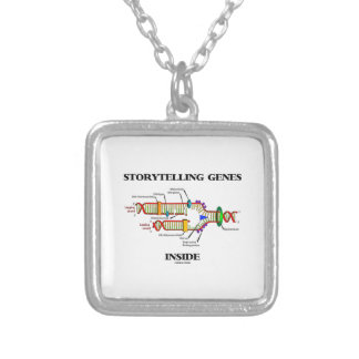 Storytelling Genes Inside (DNA Replication) Silver Plated Necklace