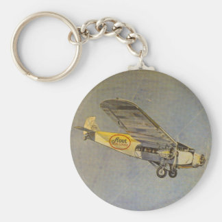 Stout Airlines Basic Round Button Key Ring