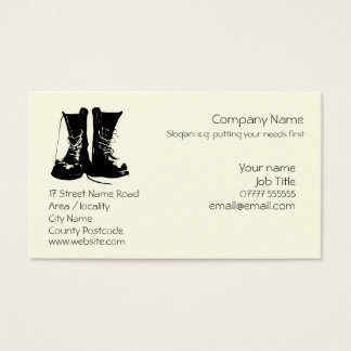 Stout Work Boots Generic logo Business Card