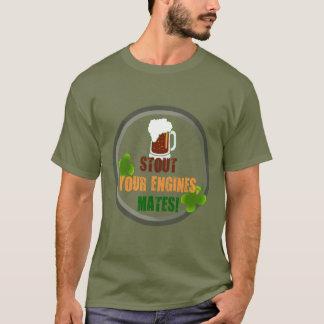 Stout Your Engines, Mates Cycling Shamrocks T-Shirt