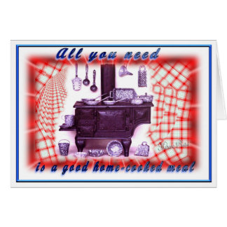 Stove-feel better soon- can change inside words greeting card