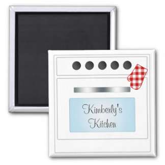 Stove Oven Door Personalized (Choose Color) Square Magnet