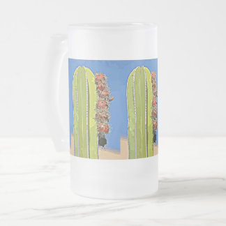 Stove Pipe Cactus Bulbs in Bloom Frosted Mug