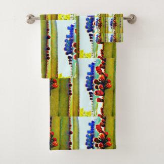 Stove Pipe Cactus in Bloom Bath Towel Set