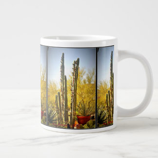 Stove Pipe Cactus in Bloom Jumbo Coffee Mug