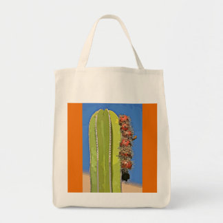 Stove Pipe Cactus in Cartoon Grocery Tote