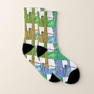 Stove Pipe Cactus in Cartoon Socks 1