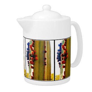 Stove Pipe In Bloom Tea Pot