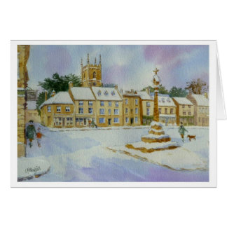 Stow on the Wold in Snow Card