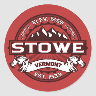 Stowe Logo Red Classic Round Sticker
