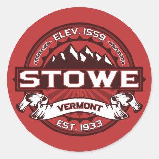 Stowe Logo Red Round Sticker