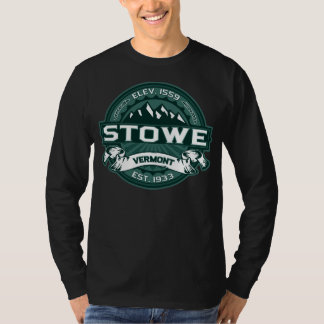 Stowe Logo Vermont Green Dark T-Shirt
