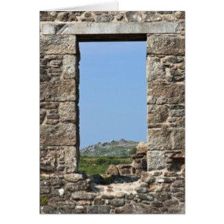 Stowe's Hill Window, Minions, Cornwall, UK Greeting Card